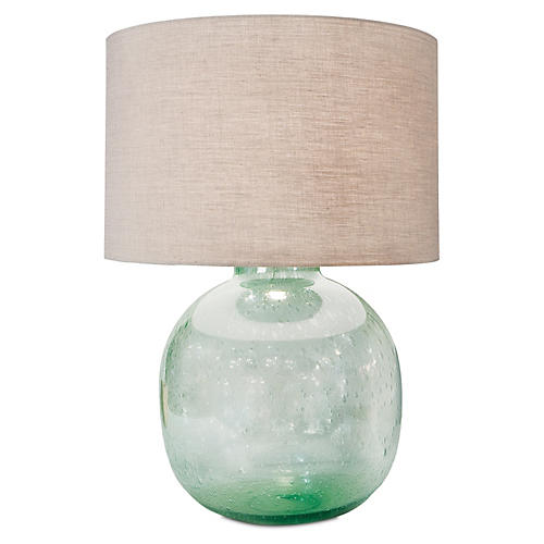 Seeded Vessel Table Lamp, Light Green