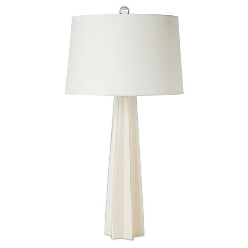 Glass Star Table Lamp, White