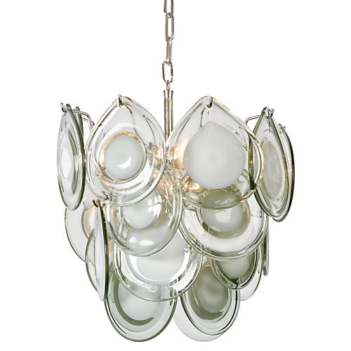 Mini Diva Chandelier, Gray