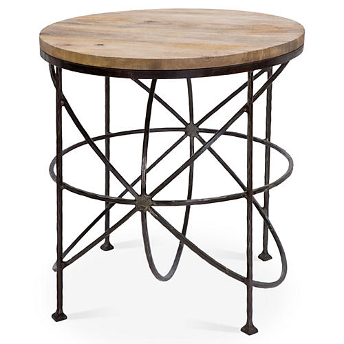 Armillary Side Table, Antiqued Iron