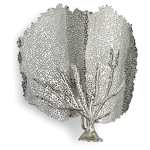 Sea Fan Sconce, Nickel