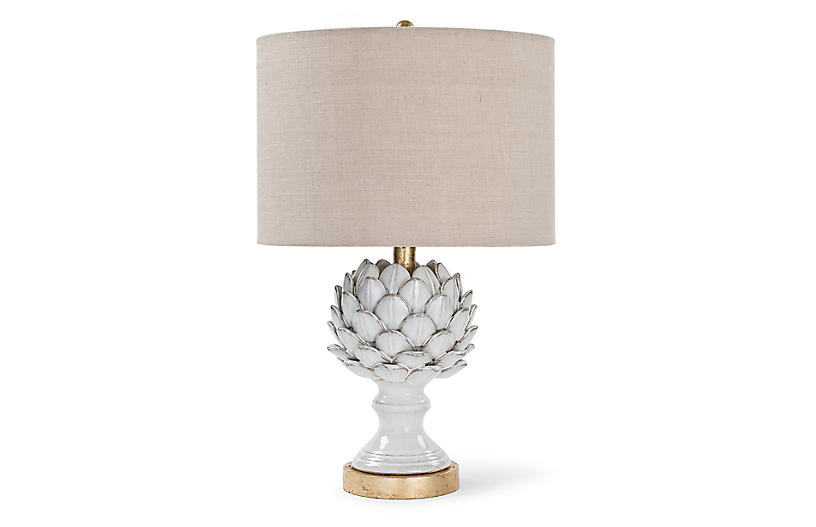 Ceramic Artichoke Table Lamp White Table Lamps Under