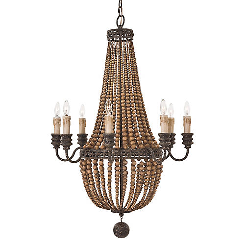 Ariel 8-Light Chandelier, Brown