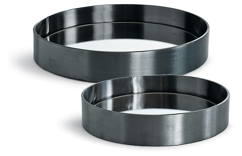 Asst. of 2 Round Trays, Steel