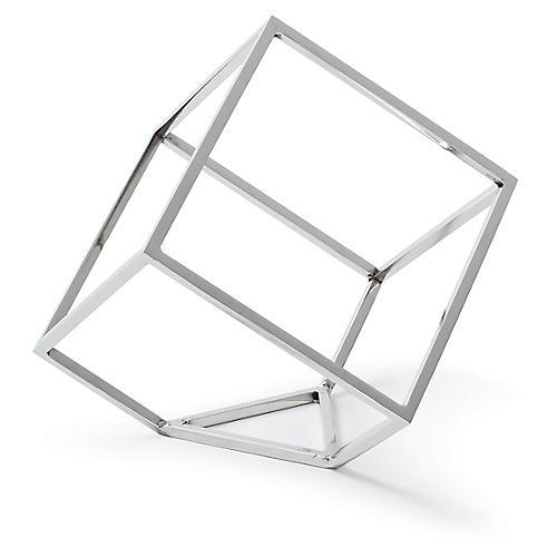 """6"""" Open Standing Cube , Nickel"""