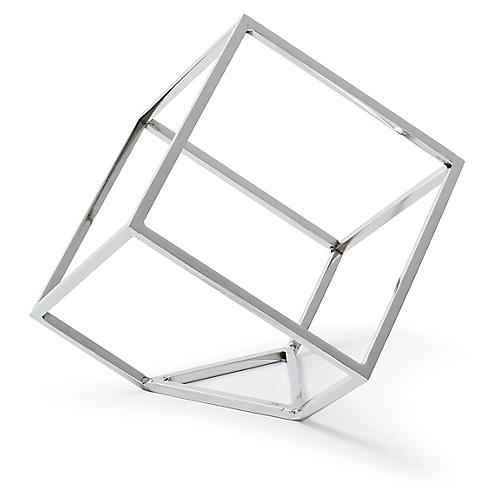 "6"" Open Standing Cube , Nickel"