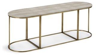 Faux Shagreen Coffee Table, Brass/Ivory   Regina Andrew Design   Brands |  One Kings Lane