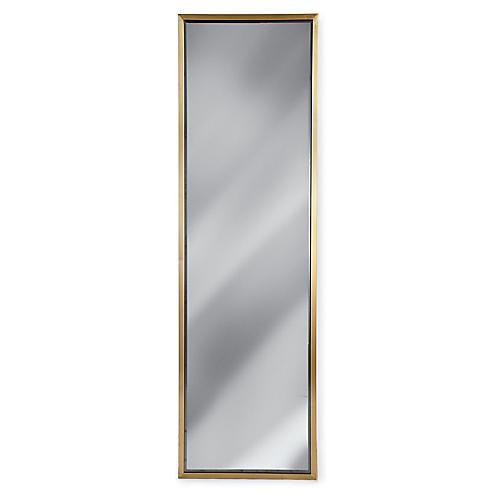 "Floor 24""x80"" Mirror, Brass"
