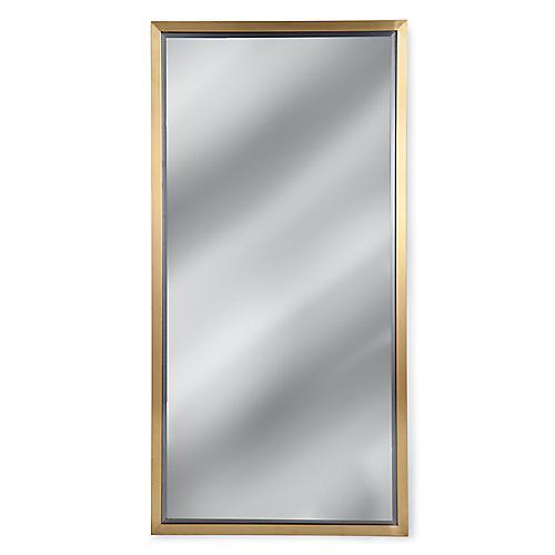 Oversize Wall Mirror, Brass