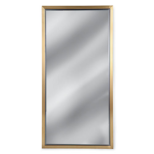 Oversize Wall Mirror, Brass