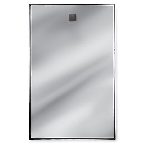 "Rectangle 28""x44"" Wall Mirror, Silver"