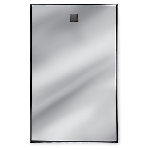 "Rectangle 28""x44"" Wall Mirror, Silver"