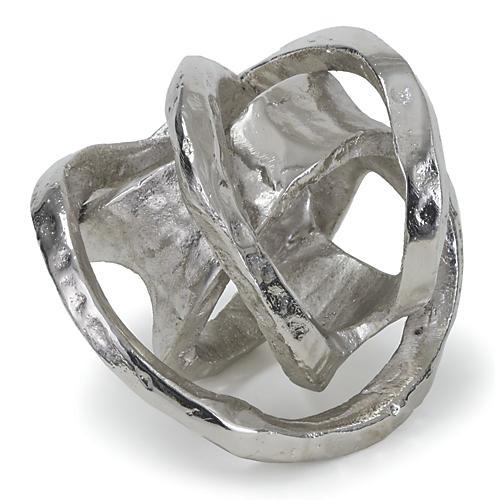 "7"" Aluminum Knot, Silver"