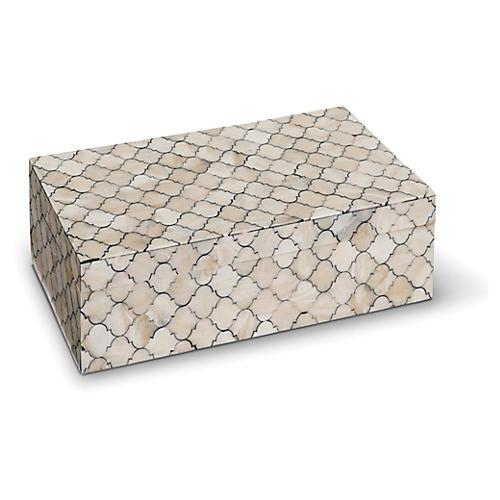 """6"""" Mosaic Quatrefoil Box, Multi"""