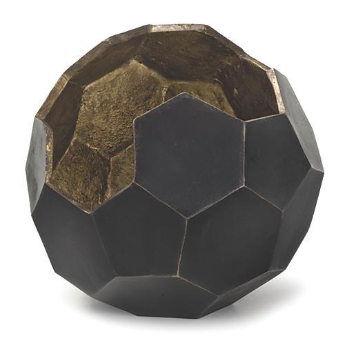 Polyhedron Vase, Black