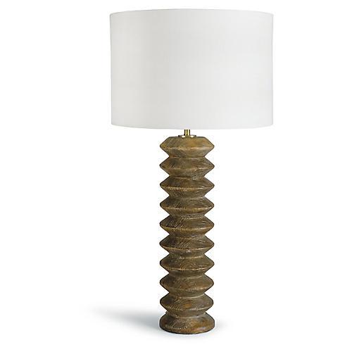 Accordion Table Lamp, Natural
