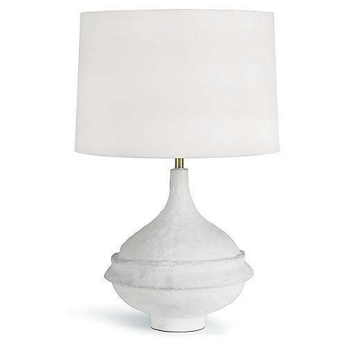 Riviera Table Lamp, Matte White