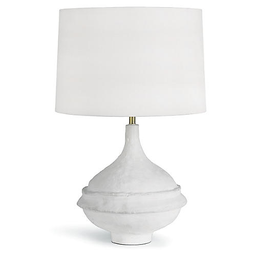 Riviera Table Lamp, Matte White