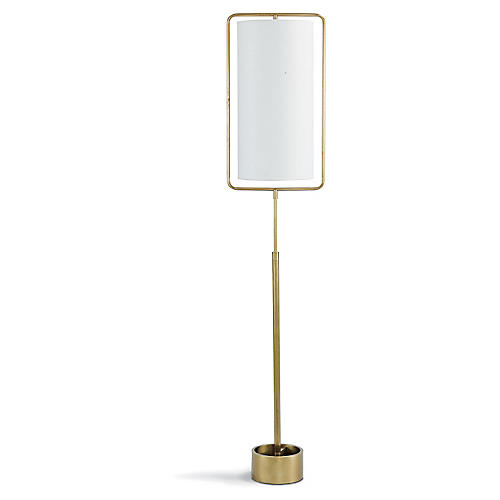 Geo Rectangle Floor Lamp, Gold