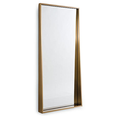 Gunner Floor Mirror, Gold