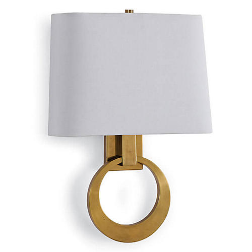 Engage 2-Light Sconce, Natural Brass