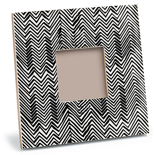 3x3 Sloane Small Picture Frame, Ebony/White