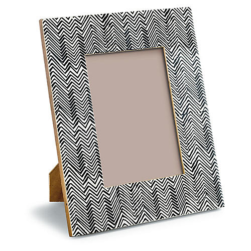 Sloane Picture Frame, Ebony/White