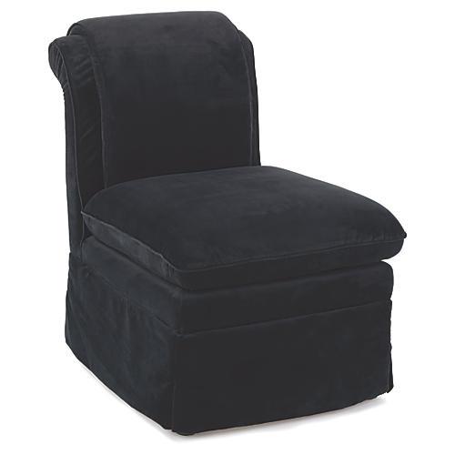 Coste Accent Chair, Midnight Blue Velvet