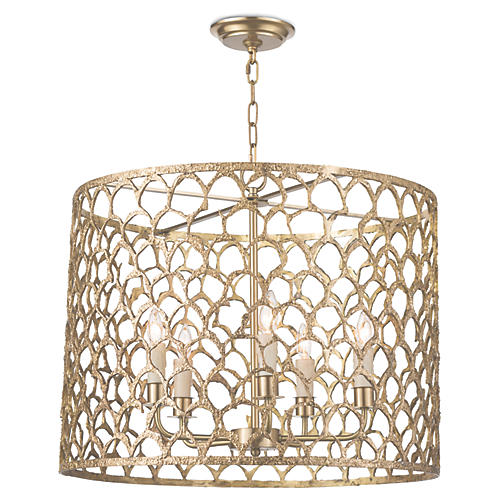 Cabana Pendant, Natural Brass
