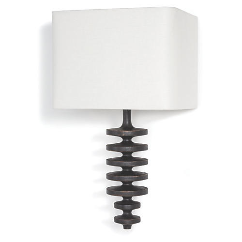 Fishbone Sconce, Ebony