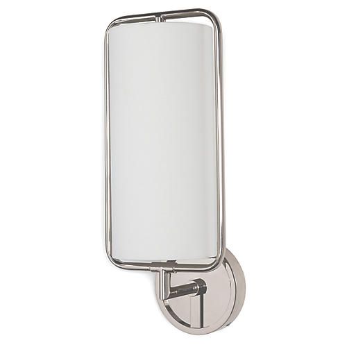 Geo Sconce, Polished Nickel