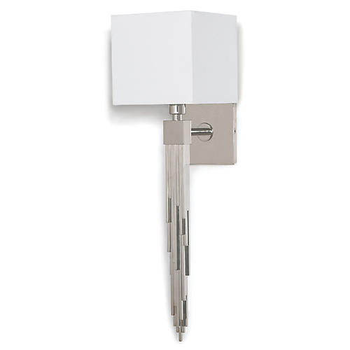 Tower Sconce, Polished Nickel