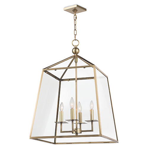 Dorne Lantern, Natural Brass