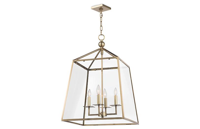 Dorne Lantern, Natural Brass