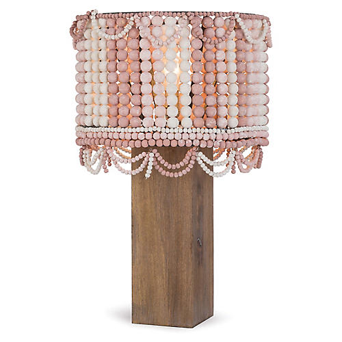 Malibu Table Lamp, Weathered Pink/Birch