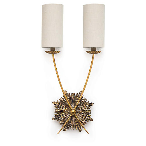 Louis Sconce, Antiqued Gold