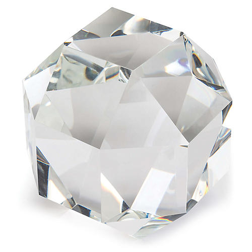 "7"" Large Crystal Octahedron, Clear"