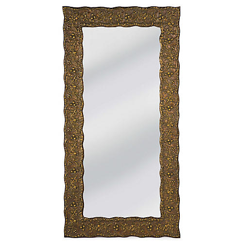 Savannah Floor Mirror, Gold