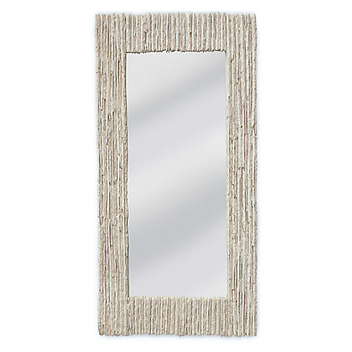 Slate Oversize Wall Mirror, Off-White