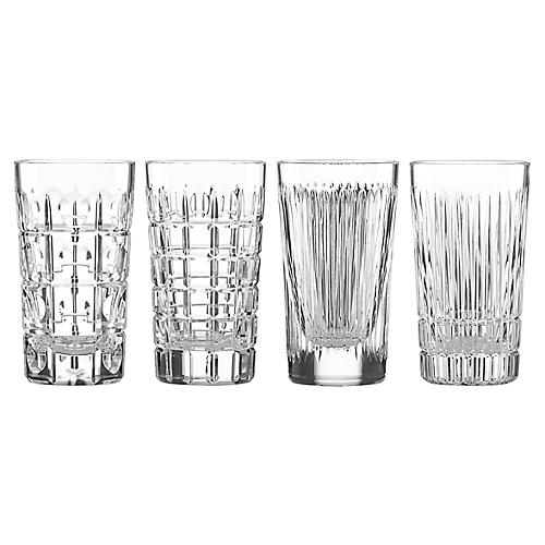 S/4 O'Brien Highball Glasses, Clear