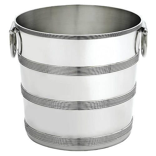 August Champagne Bucket, Pewter