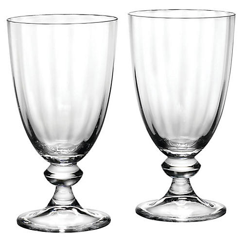 S/2 Austin Goblets, Clear
