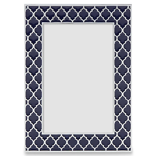 Kasbah Picture Frame, Navy/Silver