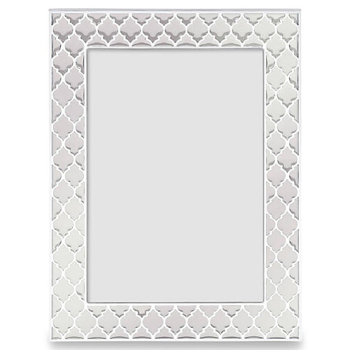 Kasbah Picture Frame, White/Silver