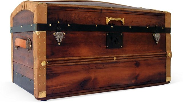 Curtis Dome-Top Personal Trunk, C. 1870