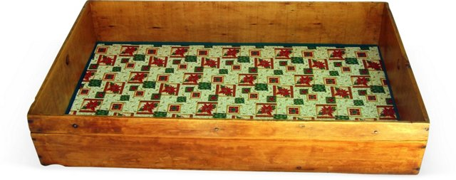 Antique Holiday Trunk Tray
