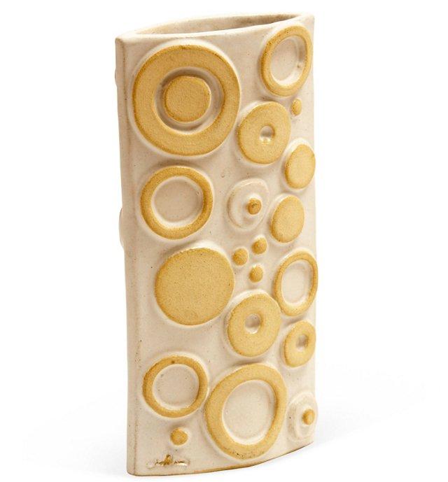 1960s Geometric Ceramic Vase
