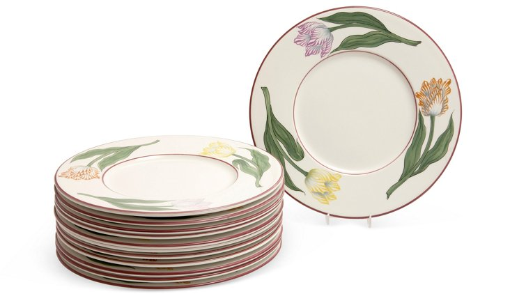 Tiffany Tulip Chargers, Set of 12