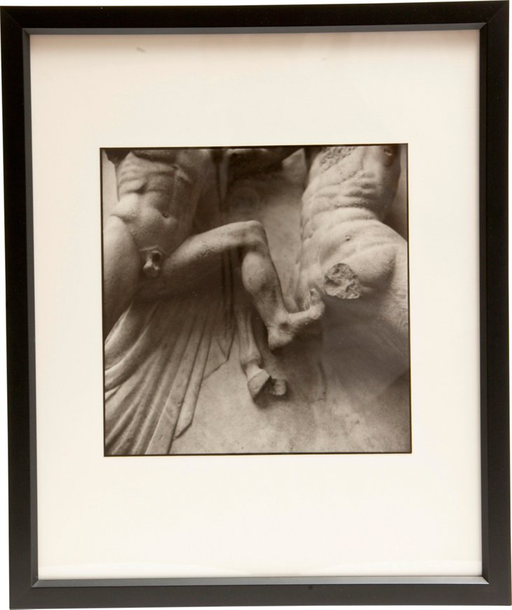 Black & White Photograph of Sculptures