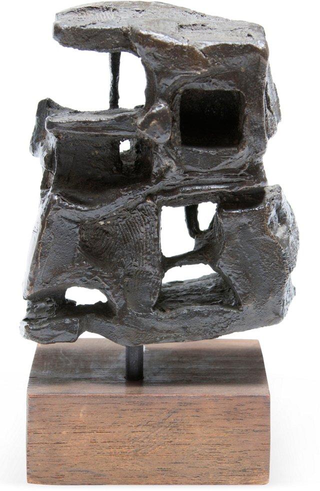 Bronze Abstract Modernist Sculpture